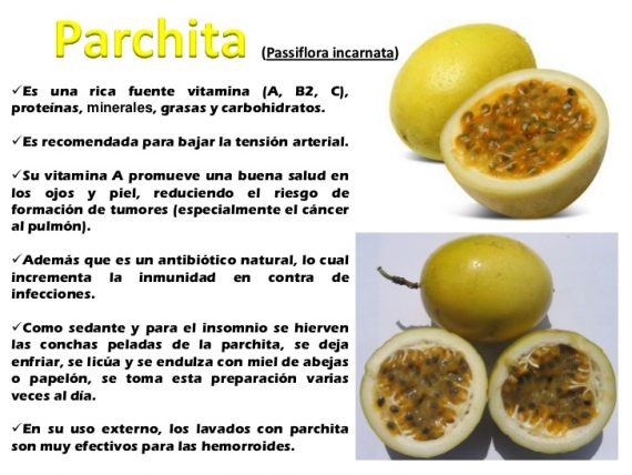 parchita beneficios